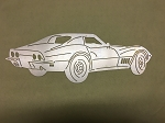 Wall Art 1969 Corvette